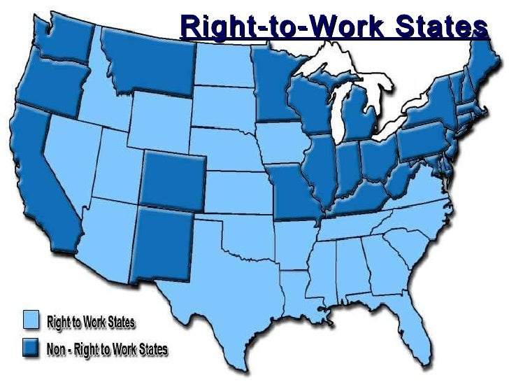 What are some of the Right to Work states?