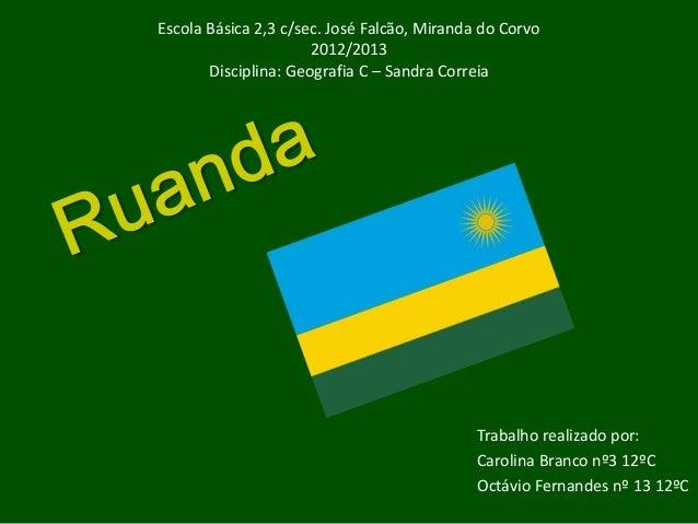 Escola Básica 2,3 c/sec. José Falcão, Miranda do Corvo                      2012/2013       Disciplina: Geografia C – Sand...