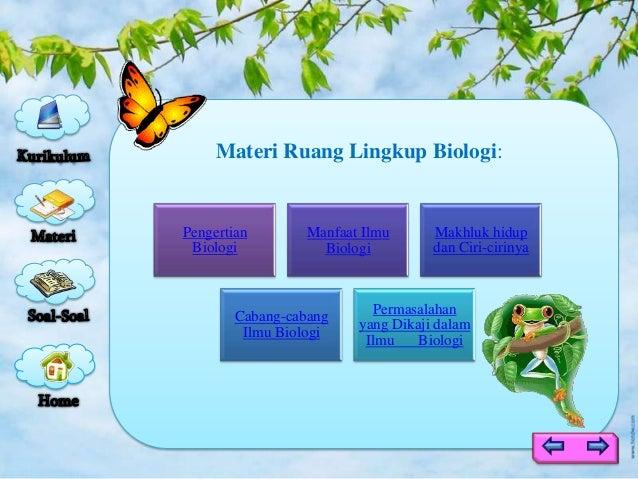 Ruang Lingkup Biologi