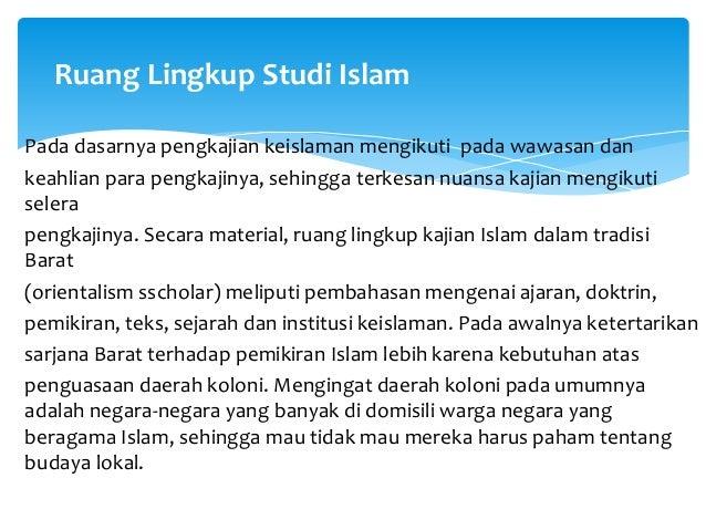 Ruang lingkup studi islam