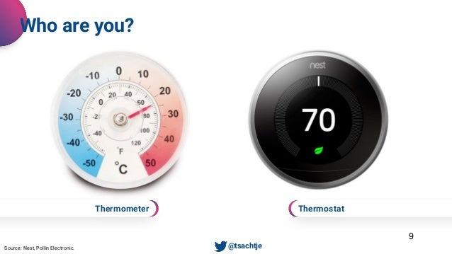 Thermostat 9 Who are you? • @tsachtjeSource: Nest, Pollin Electronic. Thermometer