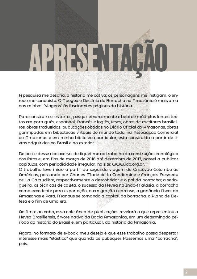 Rubber: Apogeu e declínio da borracha na Amazônia Slide 2
