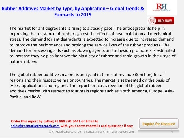 """rubber additives market worth 1 Sarasota, fl, oct 04, 2016 -- zion research has published a new report titled """"rubber processing chemicals market (flame retardants, anti-degradants, processing."""