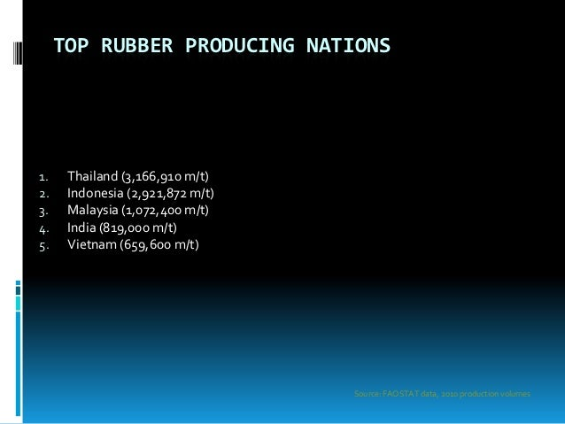 largest rubber producing country