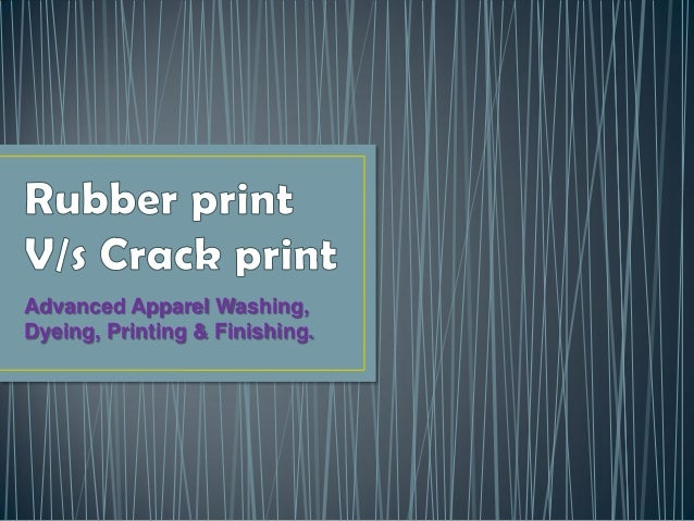 Advanced Apparel Washing, Dyeing, Printing & Finishing.