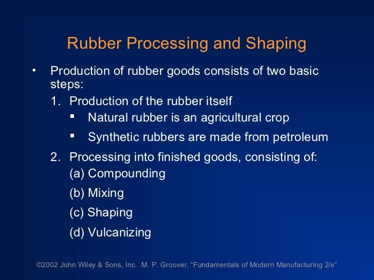 Rubber processing technology