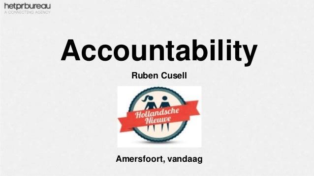 Accountability Ruben Cusell  Amersfoort, vandaag