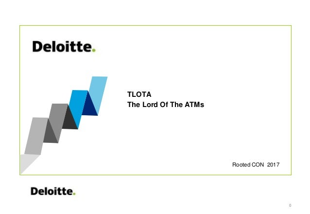 Rooted CON 2017 TLOTA The Lord Of The ATMs 0