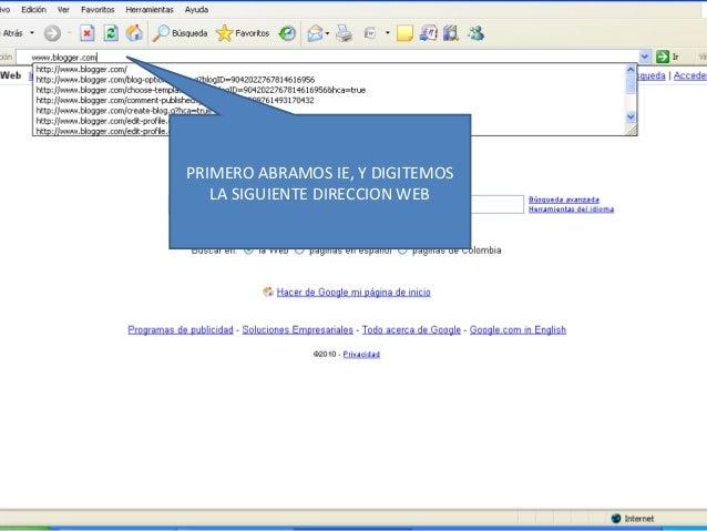 PRIMERO ABRAMOS IE, Y DIGITEMOS LA SIGUIENTE DIRECCION WEB