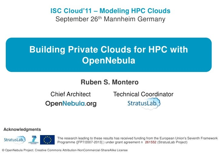 Building Private Clouds for HPC with OpenNebula<br />