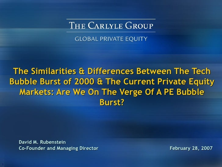 The Similarities & Differences Between The Tech Bubble Burst of 2000 & The Current Private Equity Markets: Are We On The V...