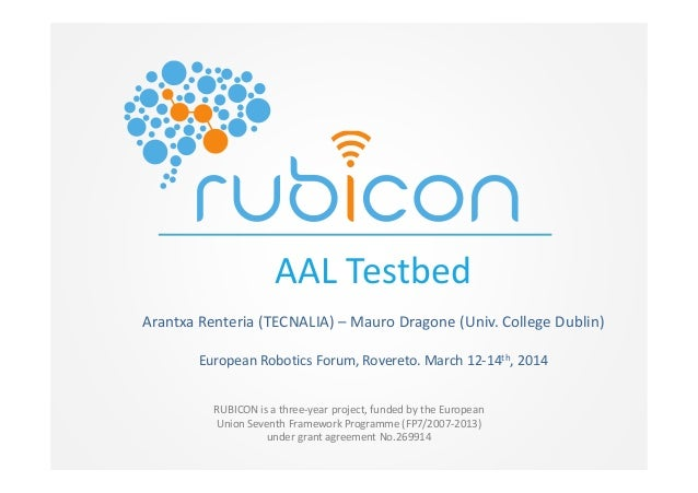 RUBICON is a three-year project, funded by the European Union Seventh Framework Programme (FP7/2007-2013) under grant agre...