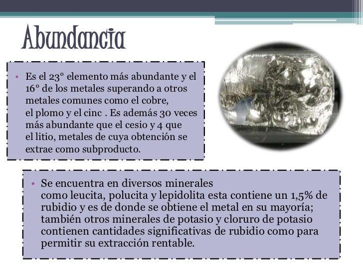 Rubidio for De donde se obtiene el marmol