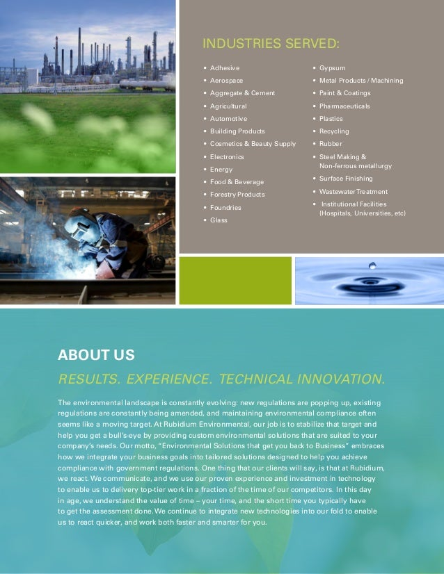Rubidium Environmental Services Brochure