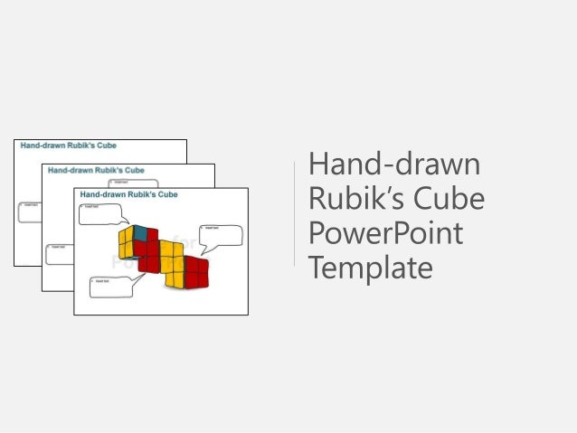 Hand-drawn Rubik\'s Cube PowerPoint Template