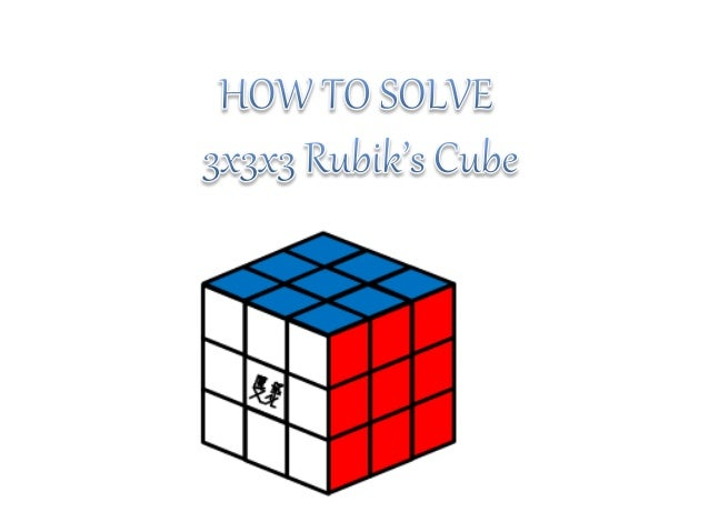 How To Solve A 3x3x3 Rubiks Cube Centre Piece One Color Edge Piecetwo Colors Corner Three
