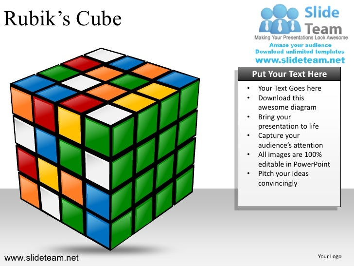 Rubiks Cubes Building Blocks Stacked Powerpoint Ppt Templates