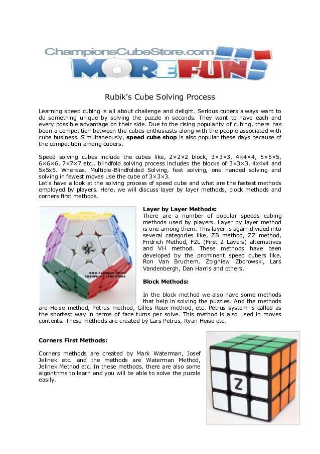 Rubik's cube solving process