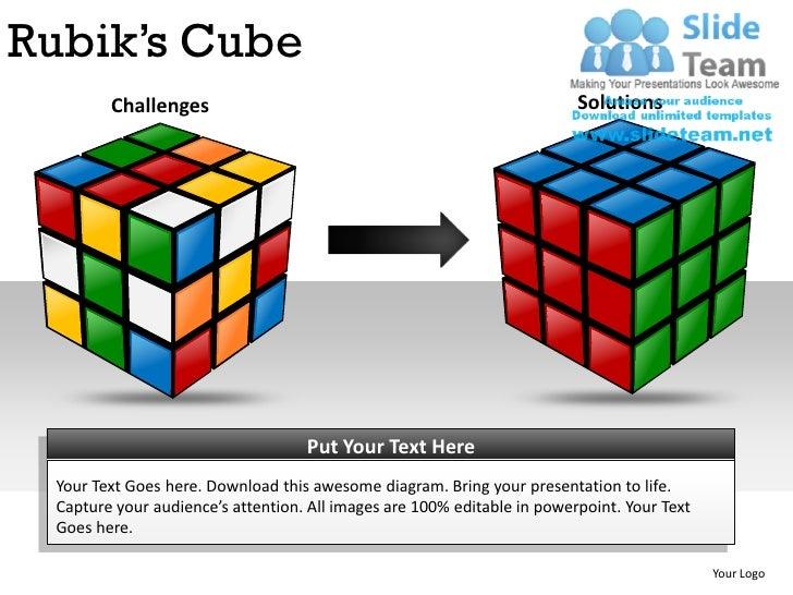 rubiks cubes powerpoint presentation slides ppt templates, Modern powerpoint