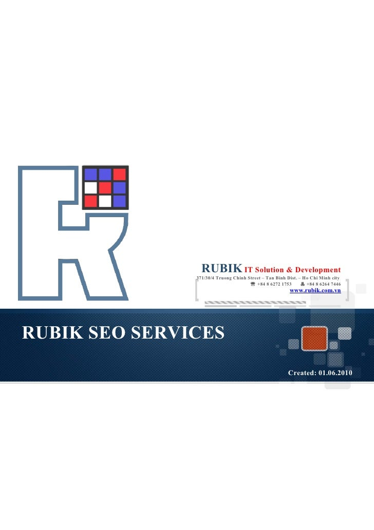 RUBIK IT Solution & Development                371/30/4 Truong Chinh Street – Tan Binh Dist. – Ho Chi Minh city           ...