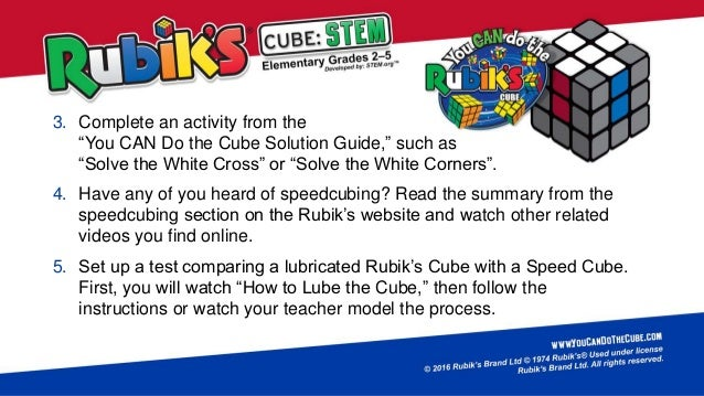 Rubiks Cube Stem Elementary 2nd 5th Developed By Stem