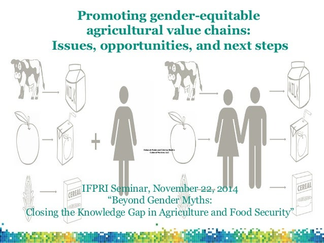 Promoting gender-equitable agricultural value chains: Issues, opportunities, and next steps  Deborah Rubin and Cristina Ma...