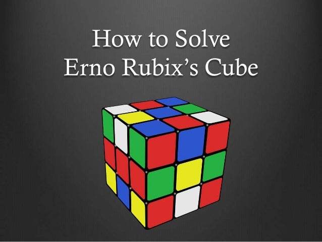How to SolveErno Rubix's Cube