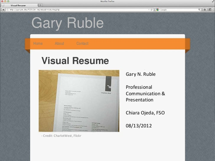 Gary RubleHome        About           Contact   Visual Resume                                      Gary N. Ruble          ...