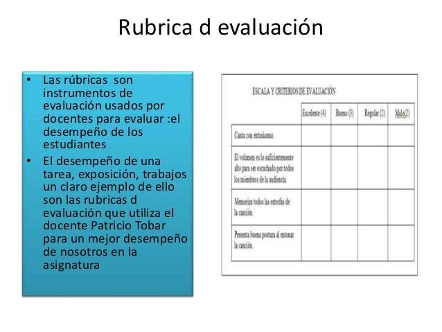 Rubrica de evaluación
