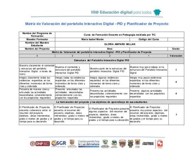 Rubrica evaluacion pares_pid_gloria_millán