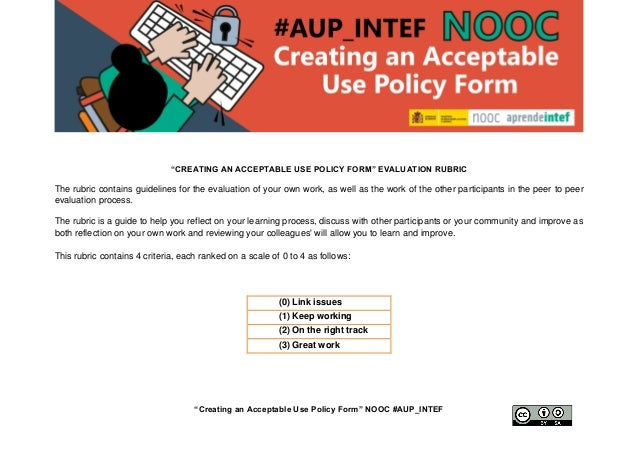 """""""Creating An Acceptable Use Policy Form (1st Edition"""