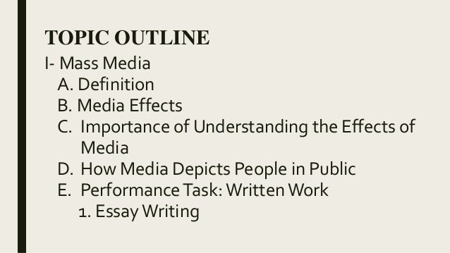 essay 2 media effects essay Effects of social media on society this research paper effects of social media on society and other 63,000+ term papers, college essay examples and free essays are available now on reviewessayscom.