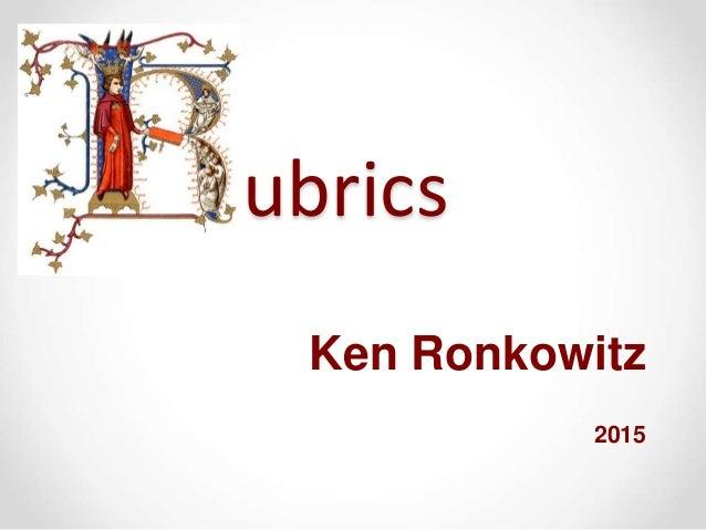 ubrics Ken Ronkowitz 2015