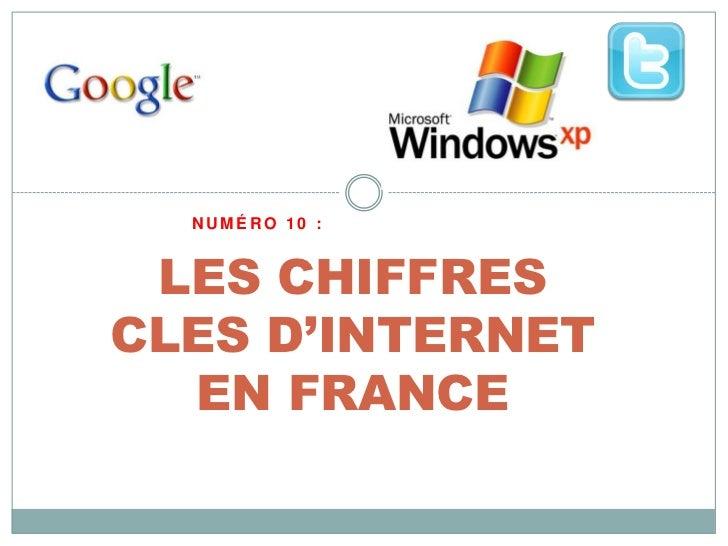 NUMÉRO 10 : LES CHIFFRESCLES D'INTERNET  EN FRANCE