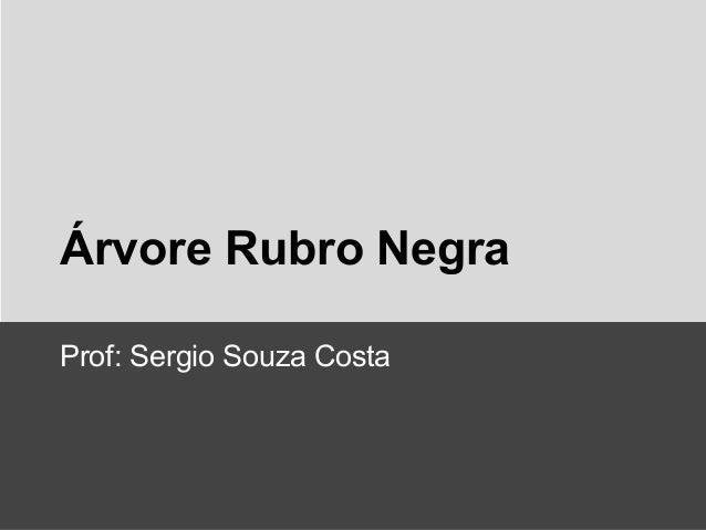 Árvore Rubro Negra Prof: Sergio Souza Costa