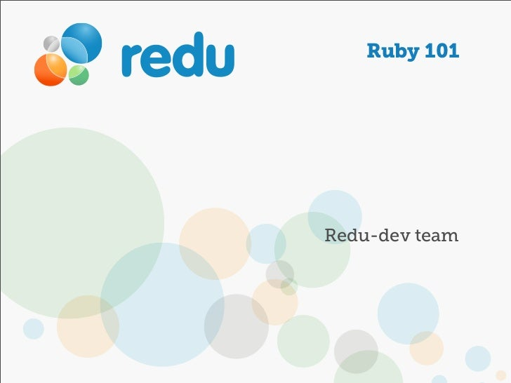 Ruby 101Redu-dev team