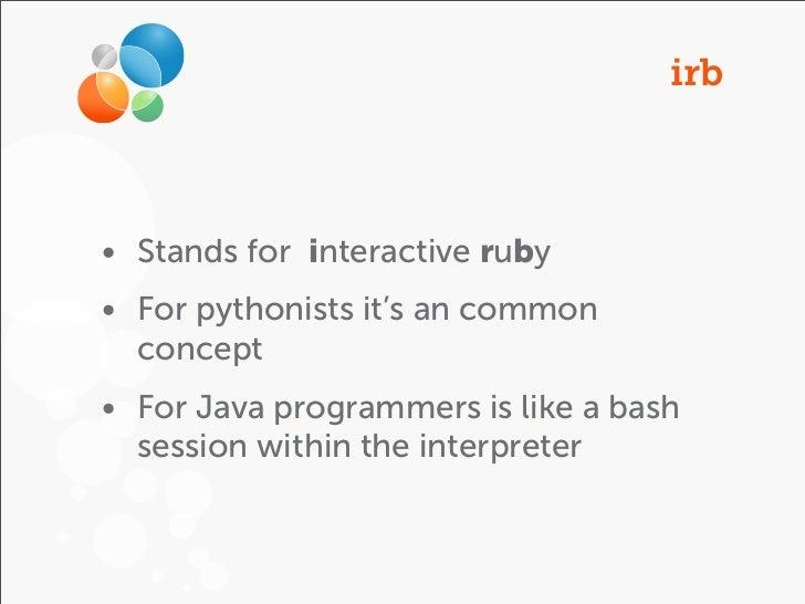 Ruby 101 && Coding Dojo Slide 3