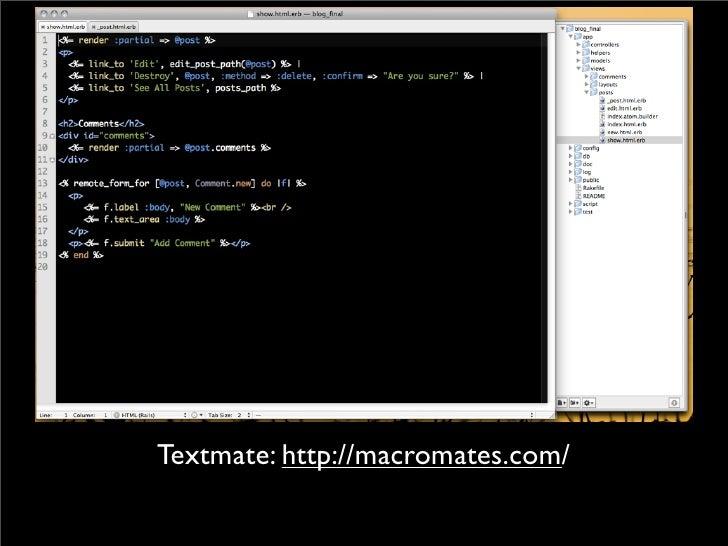 Textmate: http://macromates.com/