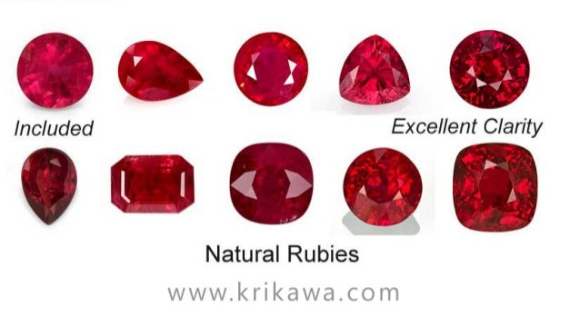 Ruby clarity-and-color-chart