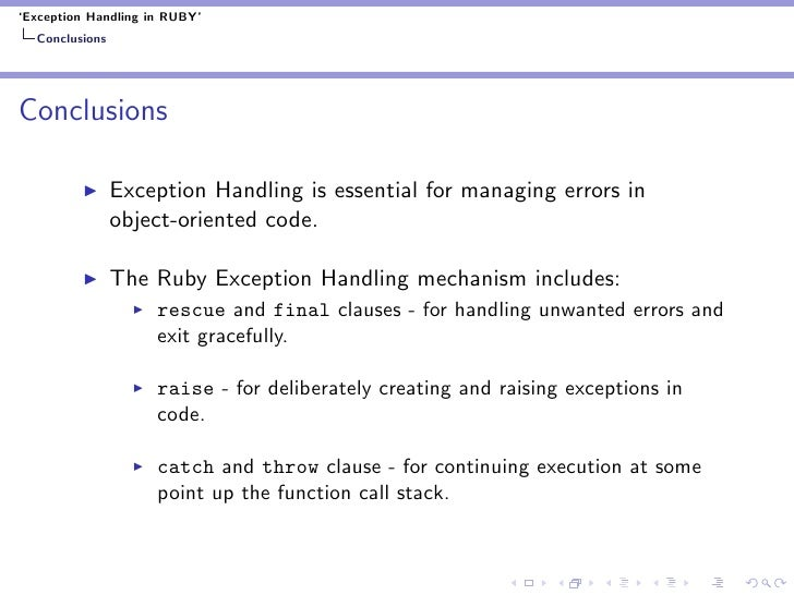 Ruby Exceptions