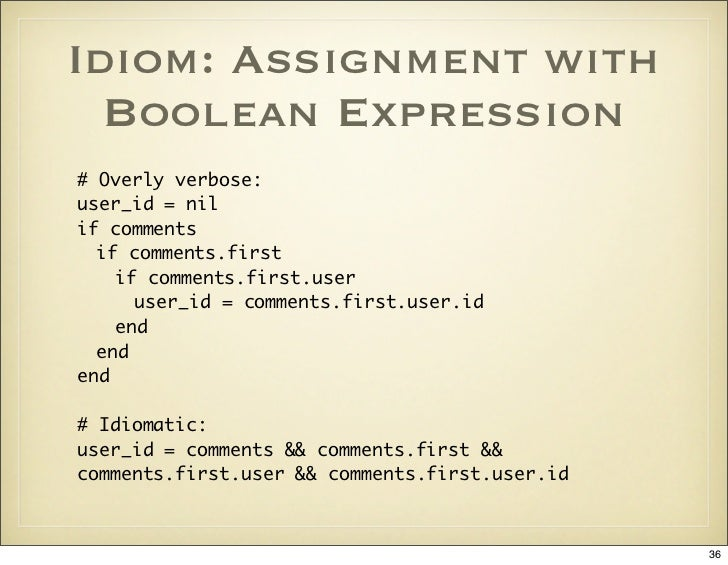 Idiom: Assignment with Boolean Expression