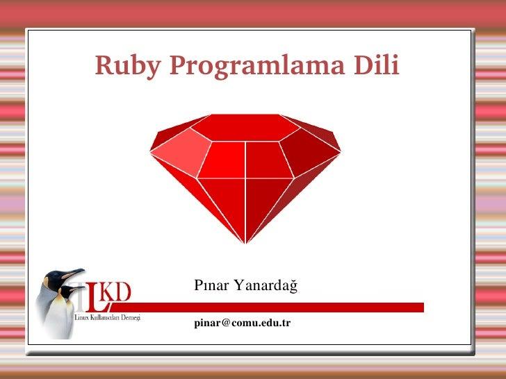 Ruby Programlama Dili                                                         P...