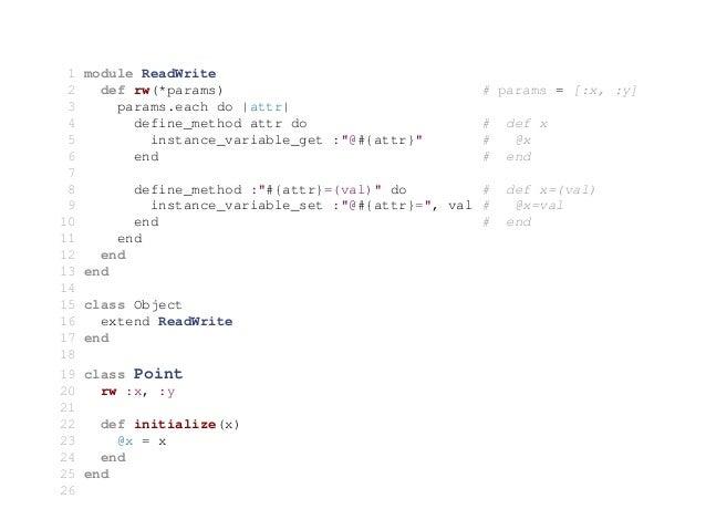 Ruby Oop Metaprogramming Blocks Iterators Mix Ins