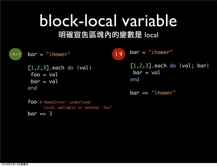 block-local variable                                                              local                                   ...