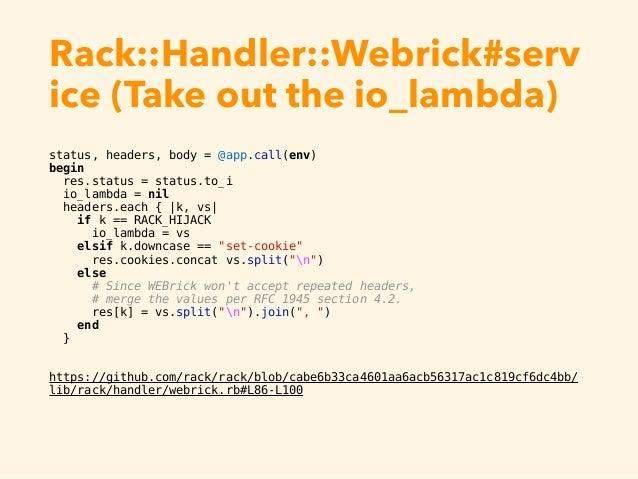 Rack Handler Webrick Serv