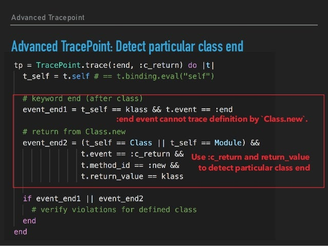 Ripper sample: Advanced Tracepoint