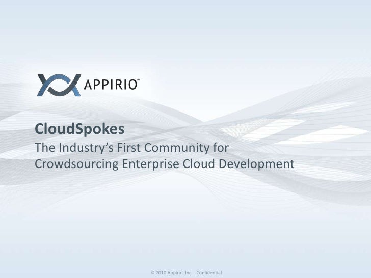 CloudSpokesThe Industry's First Community for Crowdsourcing Enterprise Cloud Development <br />