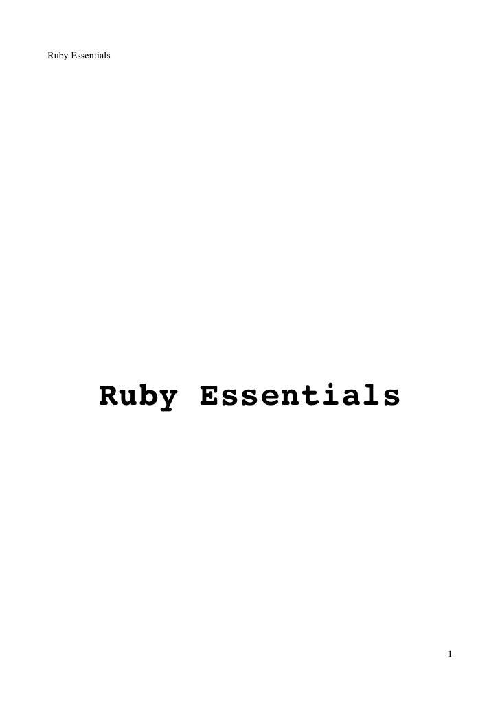 RubyEssentials                 RubyEssentials                                   1