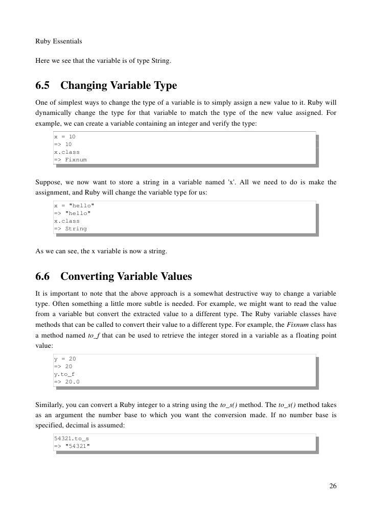 Ruby Essentials