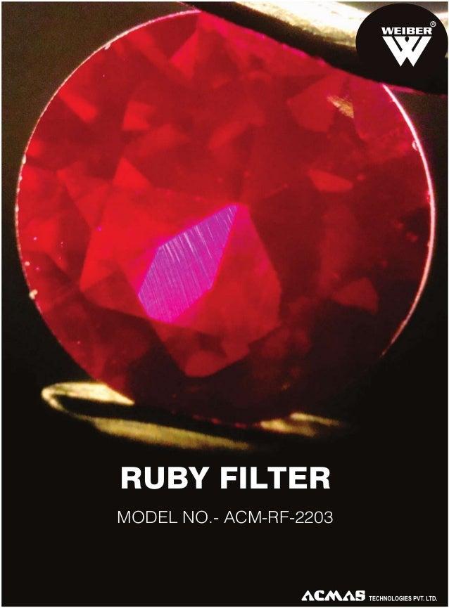 R  RUBY FILTER MODEL NO.- ACM-RF-2203